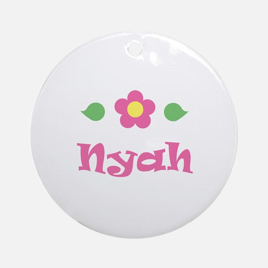 "Pink Daisy - ""Nyah"" Ornament (Round)"