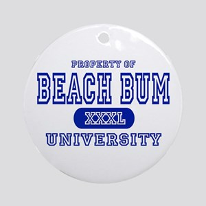 Beach Bum University Ornament (Round)