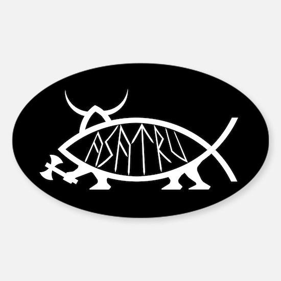 Asatru Fish Oval Decal