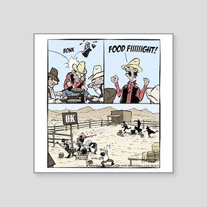 "Food Fight Final Square Sticker 3"" x 3"""