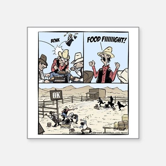 "Food Fight Final Square Sticker 3"" x 3"""