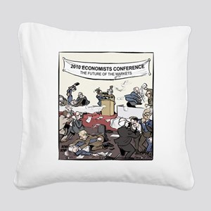 The Future of the Markets Fin Square Canvas Pillow