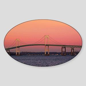 Newport Bridge, Rhode Island Sticker (Oval)