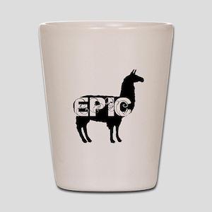 epic llama logo Shot Glass