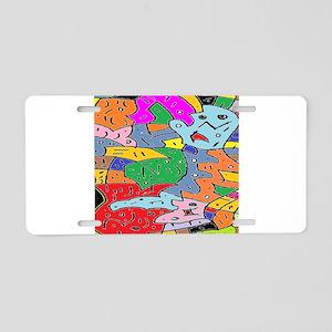 Brain Warp Aluminum License Plate