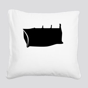 COOL LIKE THE OTHER SIDE OF T Square Canvas Pillow