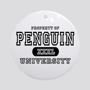 Penguin University Ornament (Round)