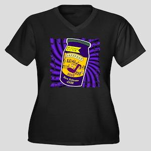 2-jam jazzfe Women's Plus Size Dark V-Neck T-Shirt