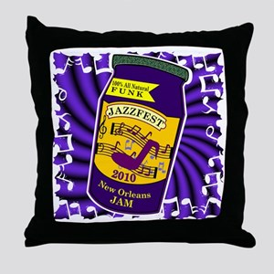 2-jam jazzfest Throw Pillow