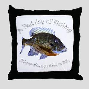 work or fish Throw Pillow