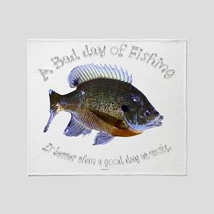 work or fish Throw Blanket