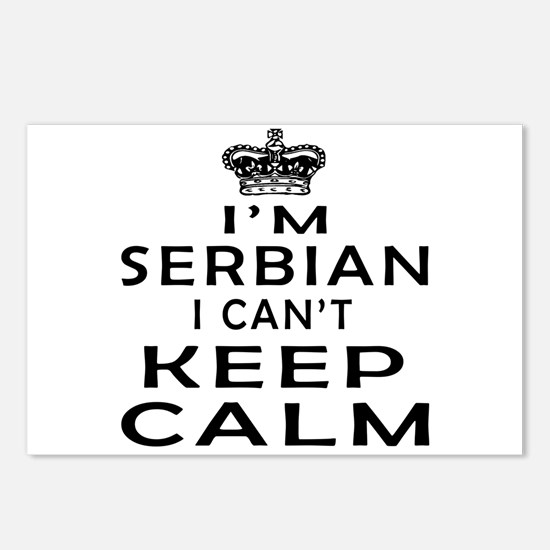 I Am Serbian I Can Not Keep Calm Postcards (Packag