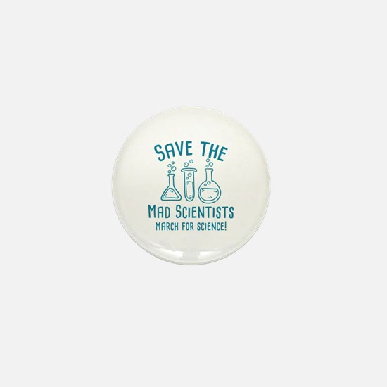 Save The Mad Scientists Mini Button