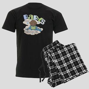 babys first valentine black bo Men's Dark Pajamas