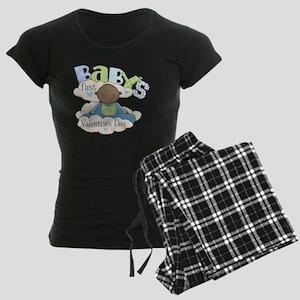 babys first valentine black  Women's Dark Pajamas