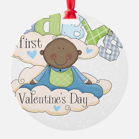 babys first valentine black boy  Ornament