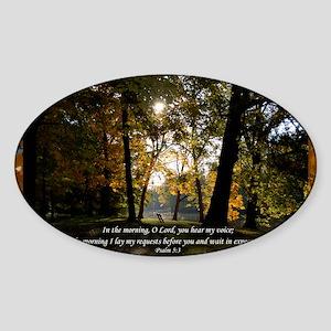 psalm53 Sticker (Oval)