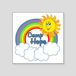 "camphopelogo Square Sticker 3"" x 3"""