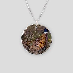 (4) Pheasant  407 Necklace Circle Charm