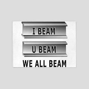 I Beam U Beam 5'x7'Area Rug