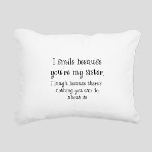 smilesister Rectangular Canvas Pillow