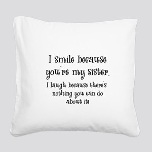 smilesister Square Canvas Pillow