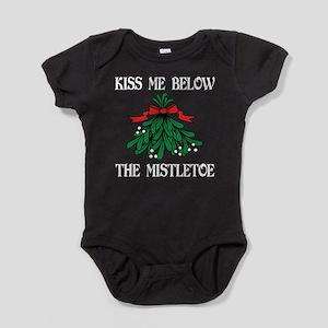 Kiss Me Below The Mistletoe Baby Bodysuit