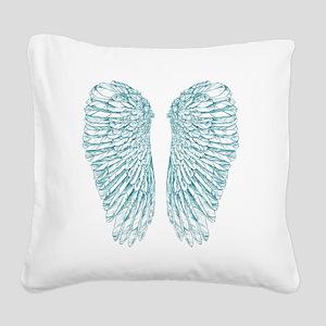Blue Angel Square Canvas Pillow