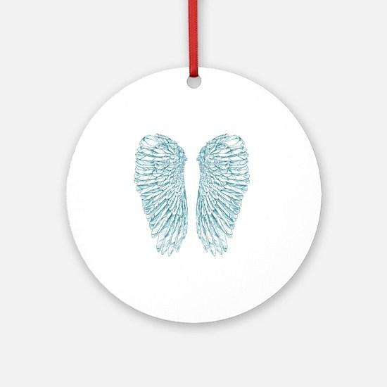 Blue Angel Round Ornament