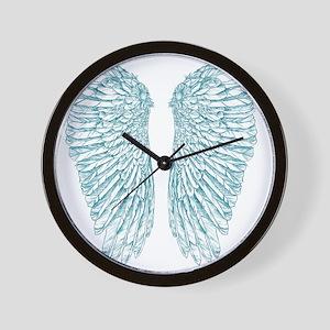 Blue Angle Wall Clock