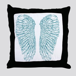 Blue Angle Throw Pillow