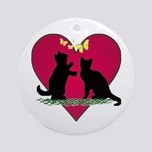 I love my kittens Ornament (Round)