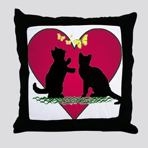 I love my kittens Throw Pillow