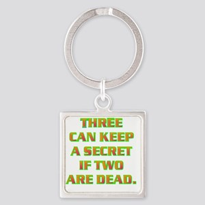 THREE CAN KEEP A SECRET IF TWO ARE Square Keychain