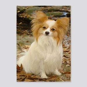 sitting papillon 5'x7'Area Rug