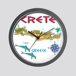 crete_t_Shirt_maP Wall Clock