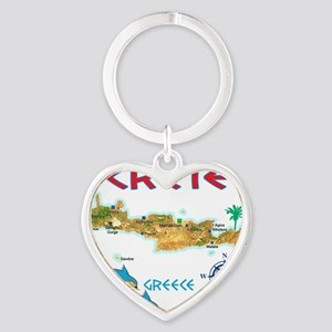 crete_t_Shirt_maP Heart Keychain