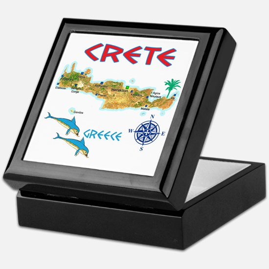 crete_t_Shirt_maP Keepsake Box