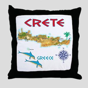 crete_t_Shirt_maP Throw Pillow