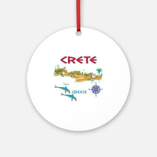 crete_t_Shirt_maP Round Ornament