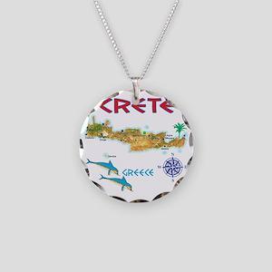 crete_t_Shirt_maP Necklace Circle Charm