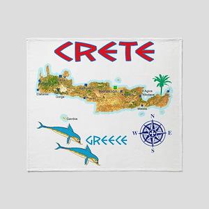 crete_t_Shirt_maP Throw Blanket