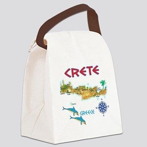 crete_t_Shirt_maP Canvas Lunch Bag