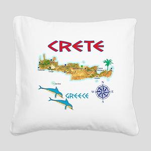 crete_t_Shirt_maP Square Canvas Pillow