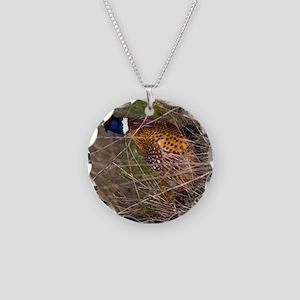 (12p) Pheasant  407 Necklace Circle Charm