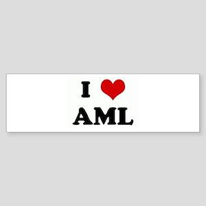I Love AML Bumper Sticker