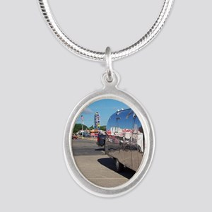 ferriswheelreflection Silver Oval Necklace