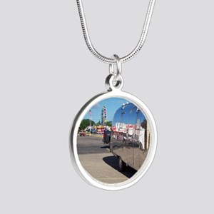 ferriswheelreflection Silver Round Necklace