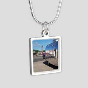 ferriswheelreflection Silver Square Necklace