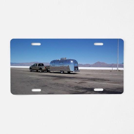 bonnevillesaltflatssafari Aluminum License Plate